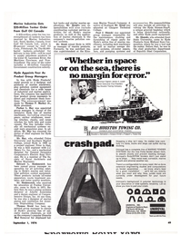 Maritime Reporter Magazine, page 41,  Sep 1974