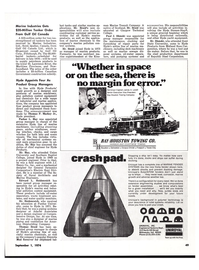 Maritime Reporter Magazine, page 43,  Sep 1974