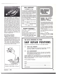 Maritime Reporter Magazine, page 55,  Sep 1974 Florida