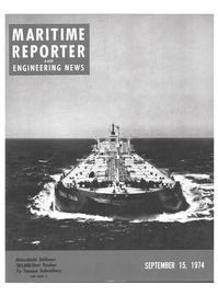 Maritime Reporter Magazine Cover Sep 15, 1974 -