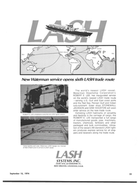 Maritime Reporter Magazine, page 21,  Sep 15, 1974