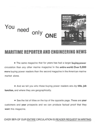 Maritime Reporter Magazine, page 26,  Sep 15, 1974