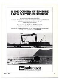 Maritime Reporter Magazine, page 9,  Apr 1976 Portugal