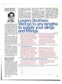 Maritime Reporter Magazine, page 25,  Apr 1976 Fiber Rope Fittings