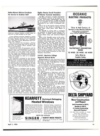 Maritime Reporter Magazine, page 39,  Apr 1976