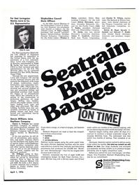 Maritime Reporter Magazine, page 41,  Apr 1976