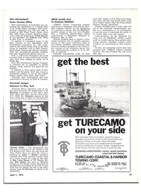 Maritime Reporter Magazine, page 49,  Apr 1976 Texas