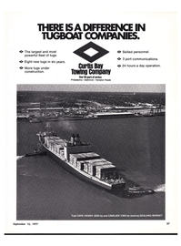 Maritime Reporter Magazine, page 21,  Sep 15, 1977