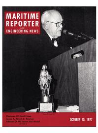 Maritime Reporter Magazine Cover Oct 15, 1977 -
