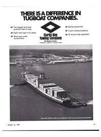 Maritime Reporter Magazine, page 11,  Oct 15, 1977