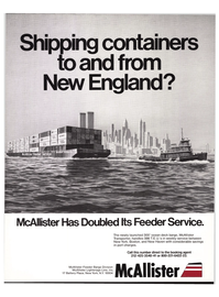 Maritime Reporter Magazine, page 1,  Nov 1977 Feeder Barge Division McAllister Lighterage Line Inc.
