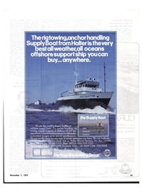 Maritime Reporter Magazine, page 63,  Nov 1977 Halter Marine Services Inc.