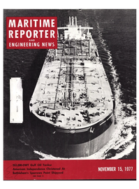 Maritime Reporter Magazine Cover Nov 15, 1977 -