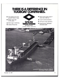 Maritime Reporter Magazine, page 11,  Nov 15, 1977 CURTIS BAY TOWING COMPANY