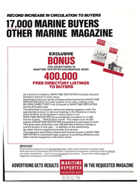 Maritime Reporter Magazine, page 3rd Cover,  Dec 1977 marine advertising