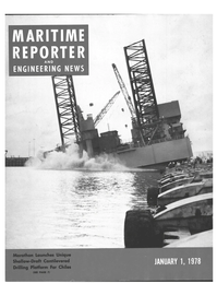 Maritime Reporter Magazine Cover Jan 1978 -