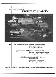 Maritime Reporter Magazine, page 31,  Jan 1978 Blount Marine Corporation