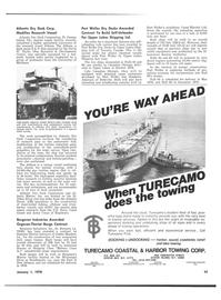 Maritime Reporter Magazine, page 43,  Jan 1978