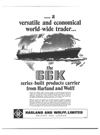Maritime Reporter Magazine, page 4th Cover,  Jan 1978 WOLFF HARLAND