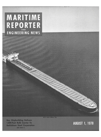 Maritime Reporter Magazine Cover Aug 1978 -