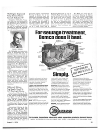Maritime Reporter Magazine, page 23,  Aug 1978 BACTERIA-ENZYME TANK INFLUENT NON-CLOG AIR DIFFUSER H-BEAM SKID AIR DISTRIBUTION LINE CHLORINATOR-DRY TABLET