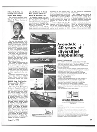 Maritime Reporter Magazine, page 35,  Aug 1978 New York