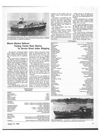Maritime Reporter Magazine, page 9,  Aug 15, 1978 Wisconsin