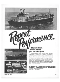 Maritime Reporter Magazine, page 21,  Aug 15, 1978 Great Lakes