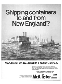 Maritime Reporter Magazine, page 1,  Aug 15, 1978 Feeder Barge Division McAllister Lighterage Line Inc.