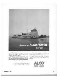 Maritime Reporter Magazine, page 29,  Sep 1978 Write Alco Power Inc.
