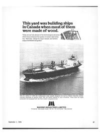 Maritime Reporter Magazine, page 37,  Sep 1978 Canada