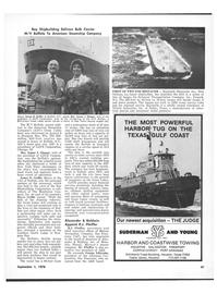 Maritime Reporter Magazine, page 45,  Sep 1978 Louisiana