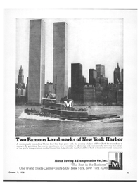 Maritime Reporter Magazine, page 3rd Cover,  Oct 1978 Port of New York