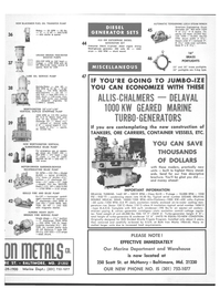 Maritime Reporter Magazine, page 4th Cover,  Nov 1978 Gould