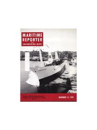 Maritime Reporter Magazine Cover Nov 15, 1978 -