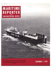 Maritime Reporter Magazine Cover Dec 1978 -