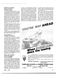 Maritime Reporter Magazine, page 39,  Mar 1980