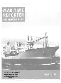 Maritime Reporter Magazine Cover Mar 15, 1980 -