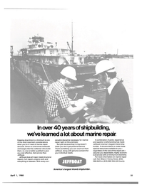 Maritime Reporter Magazine, page 19,  Apr 1980 metal structural repairs