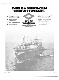 Maritime Reporter Magazine, page 13,  Jun 15, 1980 CURTIS BAY TOWING COMPANY