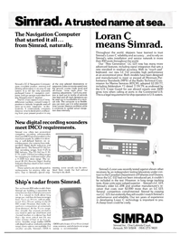 Maritime Reporter Magazine, page 2nd Cover,  Aug 1980 Simrad Loran C