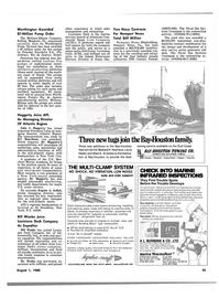 Maritime Reporter Magazine, page 33,  Aug 1980 Indiana