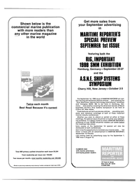 Maritime Reporter Magazine, page 34,  Aug 1980 advertising copy