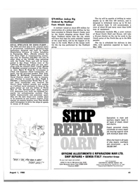 Maritime Reporter Magazine, page 39,  Aug 1980 Harry D. Train II