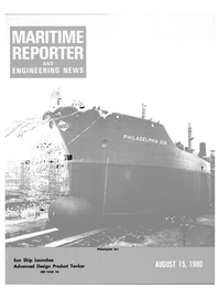 Maritime Reporter Magazine Cover Aug 15, 1980 -