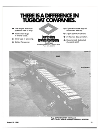 Maritime Reporter Magazine, page 9,  Aug 15, 1980 CURTIS BAY TOWING COMPANY