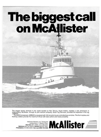 Maritime Reporter Magazine, page 1,  Aug 15, 1980 Saudi Tug Services