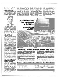 Maritime Reporter Magazine, page 35,  Aug 15, 1980 Frank V. Oliver Jr.