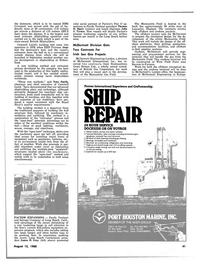 Maritime Reporter Magazine, page 39,  Aug 15, 1980