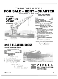 Maritime Reporter Magazine, page 4th Cover,  Aug 15, 1980 WEB BOOM